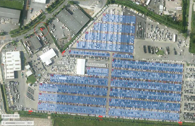ombrières photovoltaîques parc de stockage véhicules
