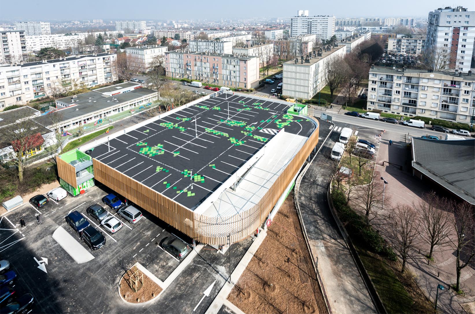 SEM massy parking à étages silo centre ville mobilité